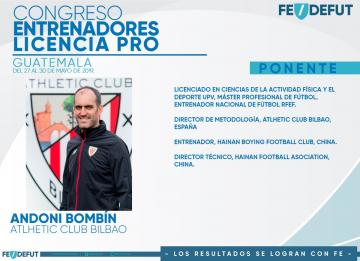 CONGRESO - ENTRENADORES LICENCIA PRO / ANDONI BOMBIN