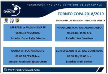 TORNEO DE COPA / ETAPA PRECLASIFICACION / JUEGOS DE VUELTA