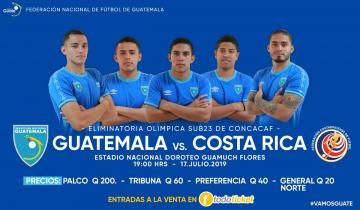 GUATEMALA vs. COSTA RICA / ELIMINATORIA OLIMPICA SUB 23 DE CONCACAF