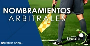 PRIMERA DIVISION / NOMBRAMIENTOS ARBITRALES CUARTA JORNADA TORNEO APERTURA 2018-2019