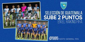 GUATEMALA CONTINÚA EN ASCENSO EN EL RANKING FIFA