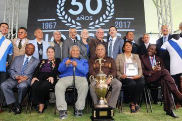 LA FEDEFUT RINDE TRIBUTO EN SU 50 ANIVERSARIO A LOS SELECCIONADOS CAMPEONES DEL NORCECA DEL 1967