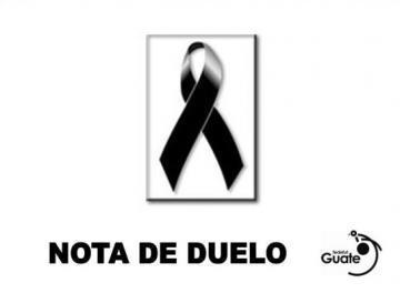 NOTA DE DUELO - SR. LUIS ALFONSO GARCIA CUQUE
