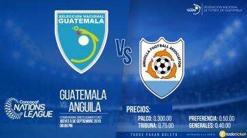 FEDEFUT ANUNCIA LA VENTA DE BOLETOS / GUATEMALA vs. ANGUILA / CONCACAF NATIONS LEAGUE