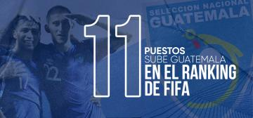 GUATEMALA SUBE 11 PUESTOS EN EL RANKING DE FIFA
